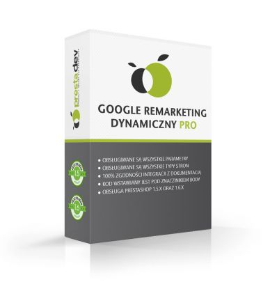 Remarketing Google Dynamic Pro pro PrestaShop 1.5.x a 1.6.x