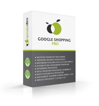 Goolge Merchant Center Pro/Google shopping for PrestaShop 1.5 x and 1.6 x